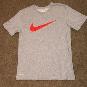 Nike Medium Gray & Red Men's Shirt